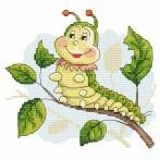 Cheerful caterpillar - Tapestry aida