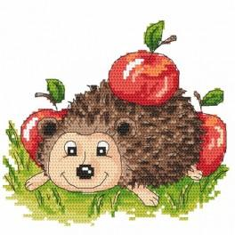 Hedgehog with apples - Tapestry aida