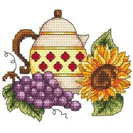 AN 4910 Jug with grape - Tapestry aida