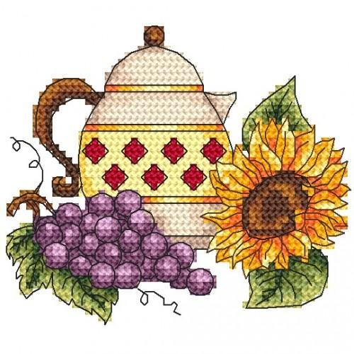 Jug with grape - Tapestry aida