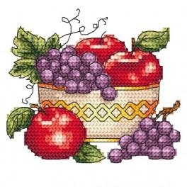 AN 4964 Bowl with apples - Tapestry aida