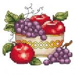 Bowl with apples - Tapestry aida