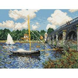 Claude Monet - Bridge in Argenteuil - Tapestry aida