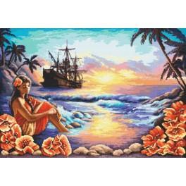 AN 8057 Tapestry Aida - Blue lagoon