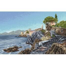 Rocky coast - Tapestry aida