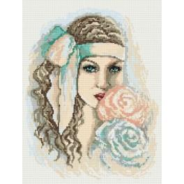 Dreaming girl - Tapestry aida