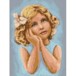 Pensive girl - Tapestry aida