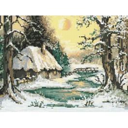 Winter twilight - Tapestry aida