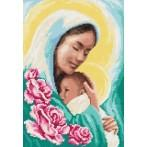 Mother Mary with a child - Tapestry aida