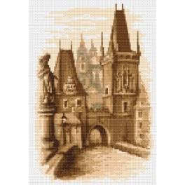 Charles Bridge - Prague - Tapestry aida