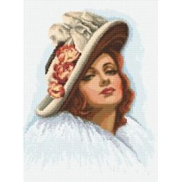 Lady in a hat - Tapestry aida