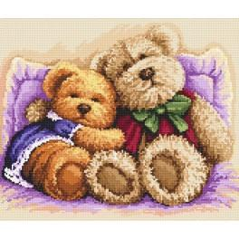 Lovely teddies - Tapestry aida