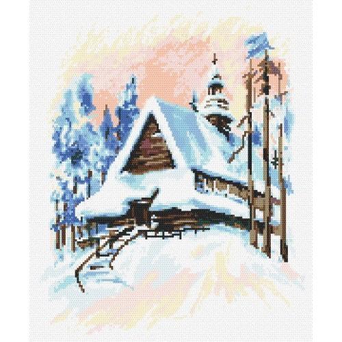 Winter landscape - Tapestry aida