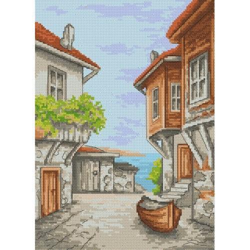 Vacation memories - Sozopol - Tapestry aida