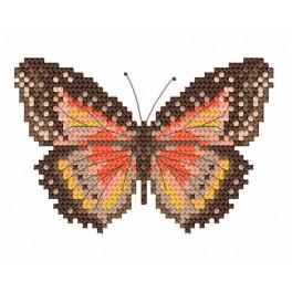 Brown butterfly - Tapestry aida