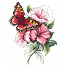 Colorful butterfly - Tapestry aida