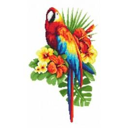 Fairy tale parrot - Tapestry aida