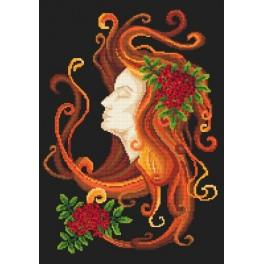 Autumn lady - Tapestry aida