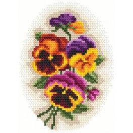 Pansies - Tapestry aida
