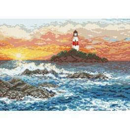 AN 8484 Rocky shore - Tapestry aida