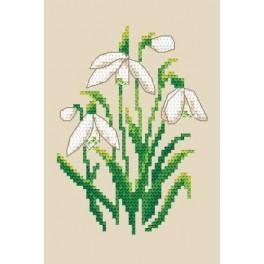 Snowdrops - Tapestry aida