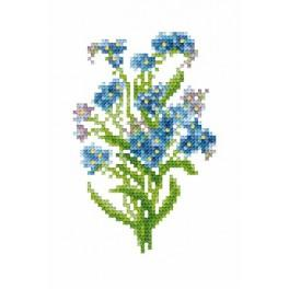Forget-me-nots - Tapestry aida