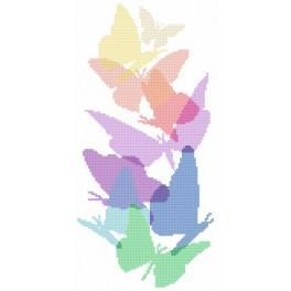 Pastel butterflies - Tapestry aida