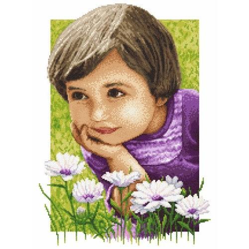 Idyllic childhood - Tapestry aida