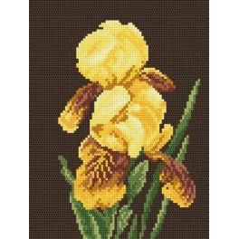 Yellow irises - Tapestry aida