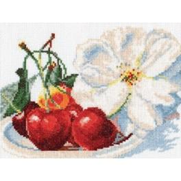 Cross stitch kit - Cherries