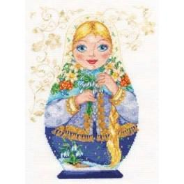 Cross stitch kit - Matreshki. Spring Beauty