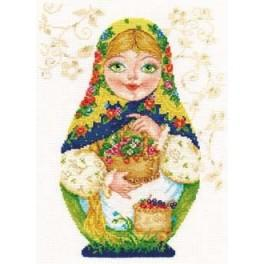 Cross stitch kit - Matreshki. Summer Beauty