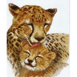 Zestaw z muliną - Rodzina gepardów