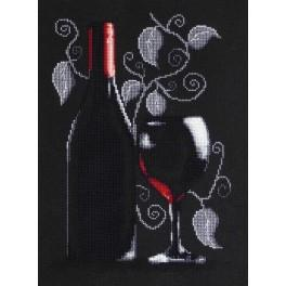 Cross stitch kit - Bottle of red wine