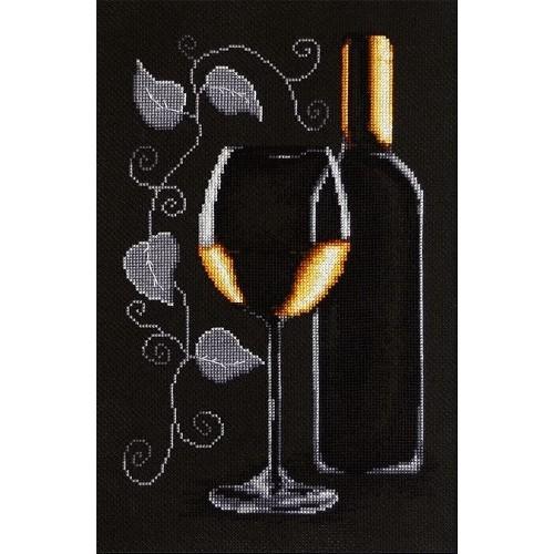 Zestaw z muliną - Butelka białego wina