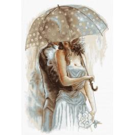 Cross stitch kit - Under umbrella II