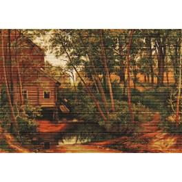 Cross stitch kit - Landscape, reproduction of Shishkin