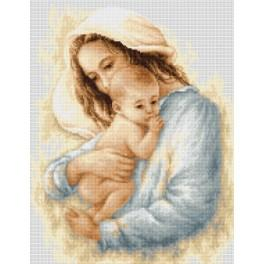Cross stitch kit - Mother and child