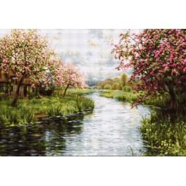 Zestaw z muliną - Wiosenny pejzaż