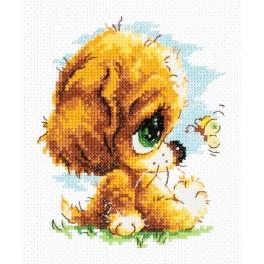 MN 16-14 Cross stitch kit - Cute silly