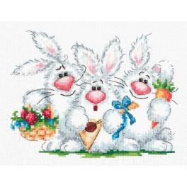 MN 18-88 Cross stitch kit - We love to play