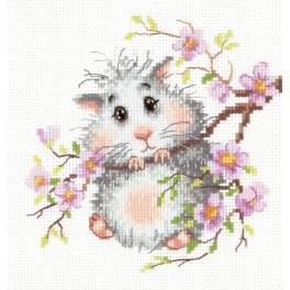 Cross stitch kit - Hamster on the branch