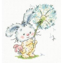 MN 19-06 Cross stitch kit - Bunny with dandelion