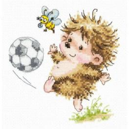 Cross stitch kit - I will be a football player