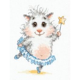 Cross stitch kit - Hamster ballerina