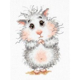 Cross stitch kit - Buy a hamster