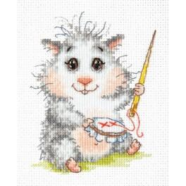 Cross stitch kit - Embroidering hamster