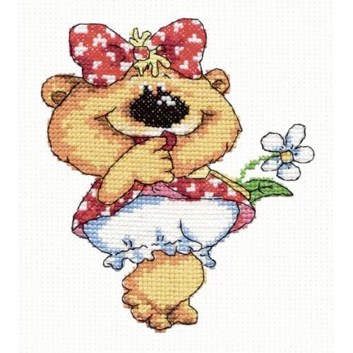 MN 26-01 Cross stitch kit - Lady bear