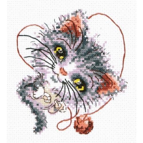 MN 26-24 Cross stitch kit - Kitten