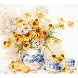 Zestaw z muliną - Kwiatowa herbatka